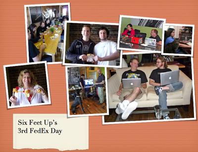 Six Feet Up's 3rd FedEx Day