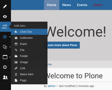 Manage Child Sites Within Plone
