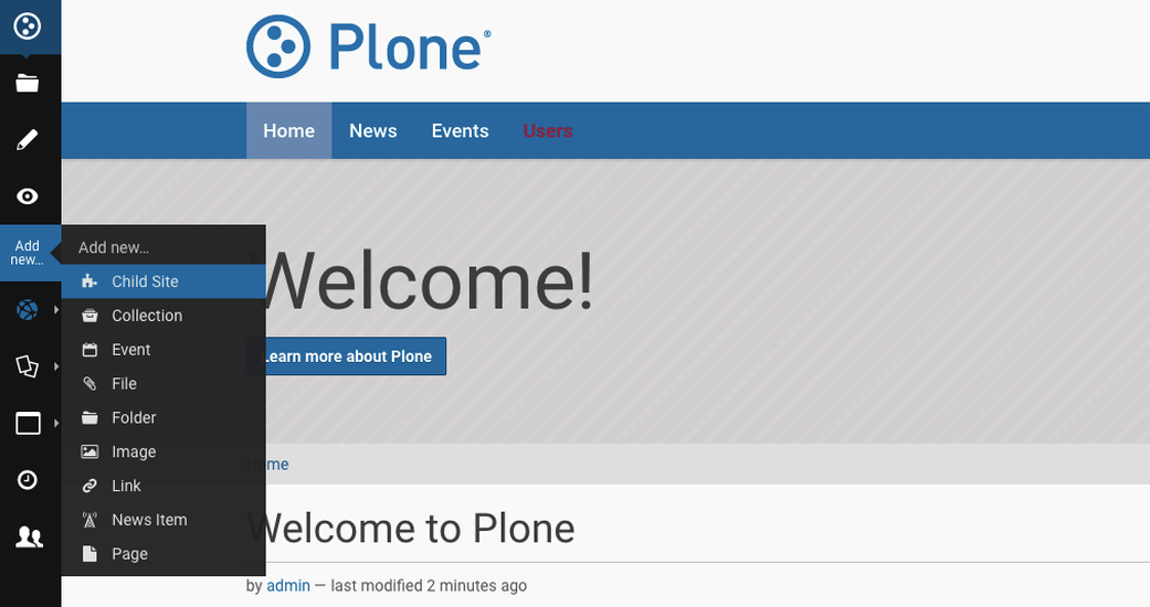 How To Create and Manage Child Sites with Out-of-the-Box Plone