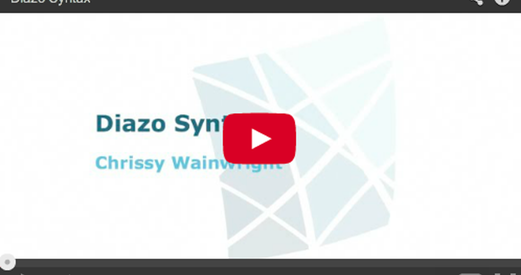 Diazo Syntax Training