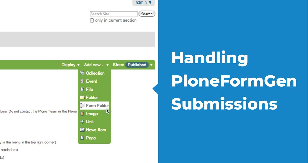 Handling PloneFormGen Submissions : The Email Adapter