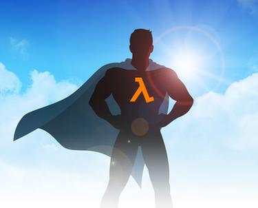 Lambda Logo on Superhero