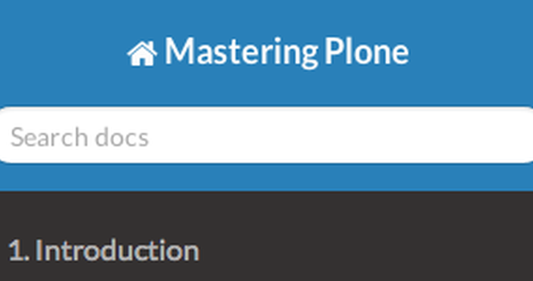 """Mastering Plone"" Documentation - An Online Resource"