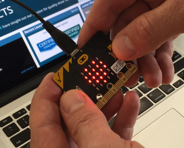 Close up of Microbit hardware