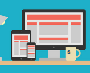Responsive web design image on desktop, tablet and mobile device