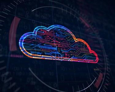 Futuristic Cloud with Data