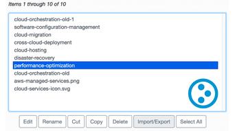 Screenshot of Plone's Export/Import settings