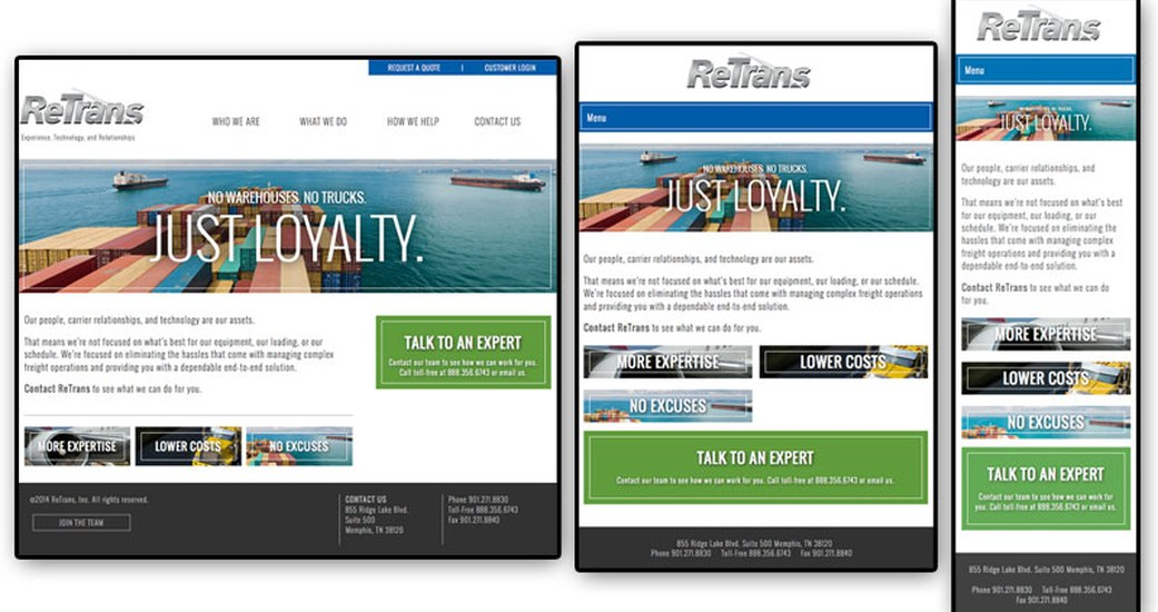 Responsive Website Launched for ReTrans