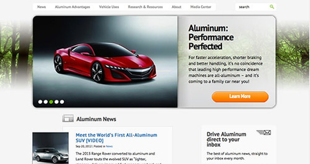 Six Feet Up Launches Striking New Website for the Aluminum Transportation Group