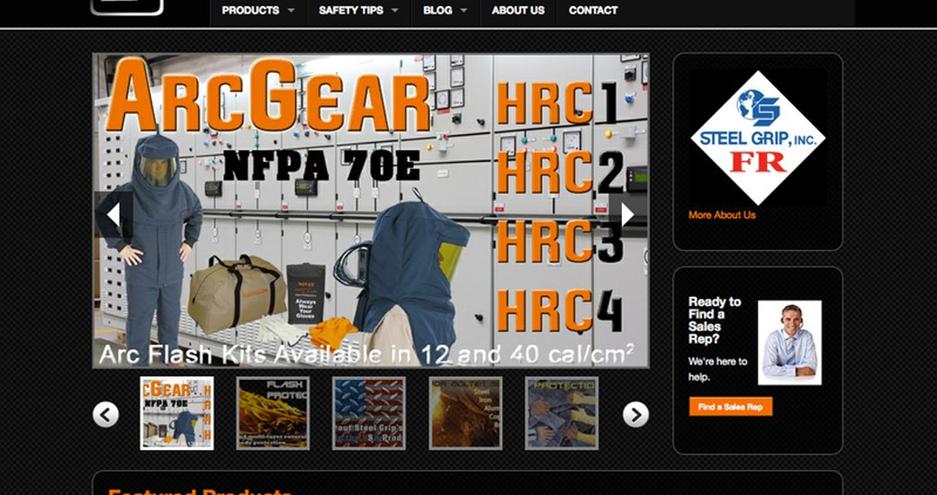 Steel Grip launches new site with E-commerce and enhanced search