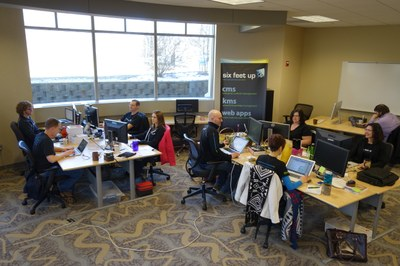 Six Feet Up Desks at Launch Fishers