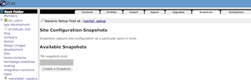 portal snapshot screenshot