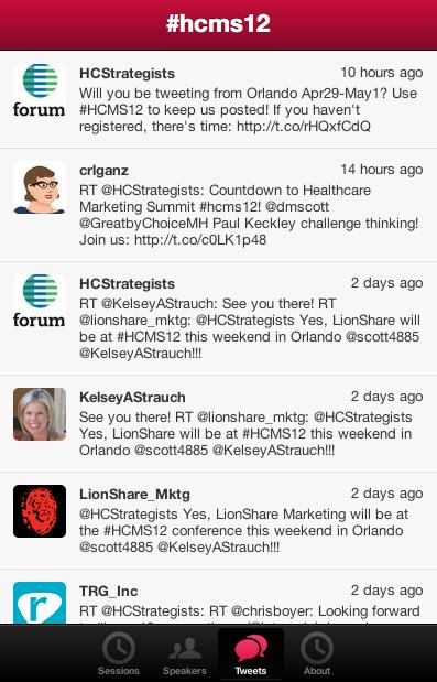 HCMS App Twitter Stream