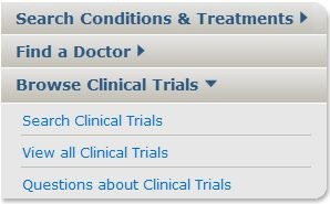Homepage Search Clinical Trials