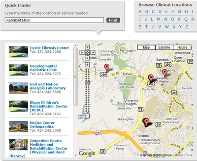 Map and Quick Finder