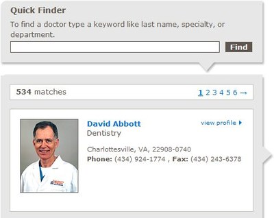 Quick Finder - Doctors