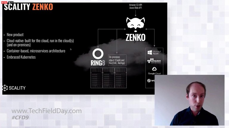 Screenshot from the presentation showing off Scality Zenko