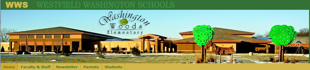 For example, the Cary Ridge Elementary School has a different header  graphic than Washington Woods Elementary: